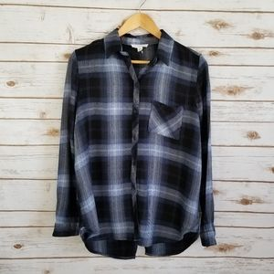 Beachlunchlounge   Flannel tunic blouse